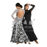 艾美舞服高领长袖蕾丝舞蹈练习服图片