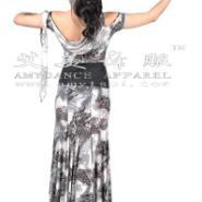 个性独特豹纹摩登舞裙国标舞华尔兹图片