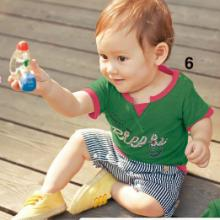 供应假两件哈衣连身衣儿童连身衣批发广州儿童连身衣批发
