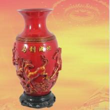 供应树脂仿红瓷花瓶现代中式家居花瓶