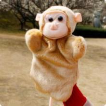供应毛绒公仔猴子/仿真毛绒手指玩偶/动物公仔/十二生肖猴