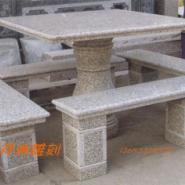 大理石桌子石桌凳子雕刻石雕圆桌图片