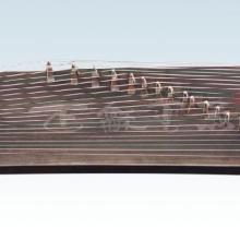供应黑檀素面古筝 古筝专业生产厂家 扬州正和民族乐器厂