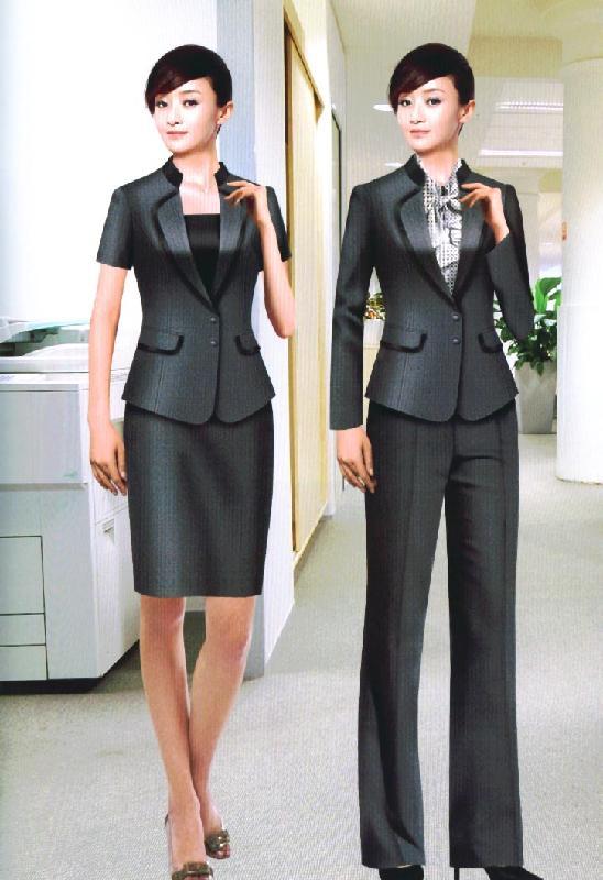 职业装服装设计 职业装服装设计手绘 服装设计手稿图职业装