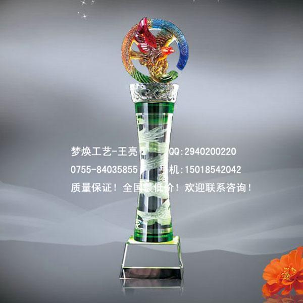 宜昌彩色水晶奖杯厂家十堰运动会奖杯比赛奖牌全国定制厂家