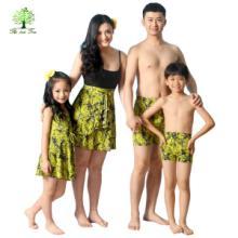 如意树亲子装母女装父子装全家装夏装新款时尚泳衣泳裤裙子T346