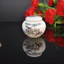 陶瓷茶叶罐生产厂家 陶瓷圆形茶叶罐 德化茶叶罐
