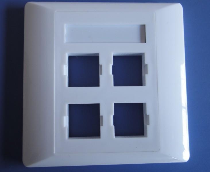安普四口网络面板,86型安普面板批发价格/慈溪华创通信设备厂批发零售