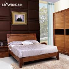 供应中式卧房家具实木床现代儿童单人双人床1.2米特价批发