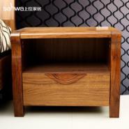 实木床边柜图片