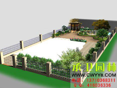 供应广州庭院鱼池假山设计图 别墅设计图图片