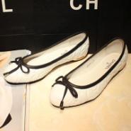 香奈儿新款chanel蝴蝶结平跟淑女鞋图片
