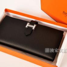 hermes original leather三折原版皮钱包 803