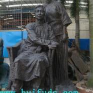玻璃钢人物雕像园林景观装饰摆件图片