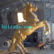 玻璃钢金色飞马雕塑艺术摆件图片