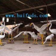 白鹤雕塑图片
