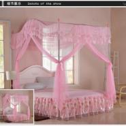 暖房家纺韩式拱形落地不锈钢蚊帐图片