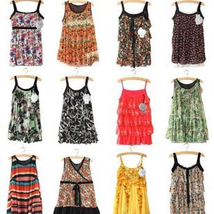 外贸品牌吊带衫外贸服装外贸女装图片