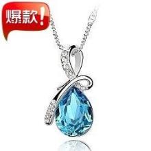 供应韩版时尚短款锁骨女满庭芳水晶项链
