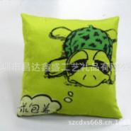 绿色海龟抱抱求包养字样抱枕靠垫图片