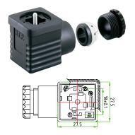 供应A型电磁阀插头18mm2+PE3+PE