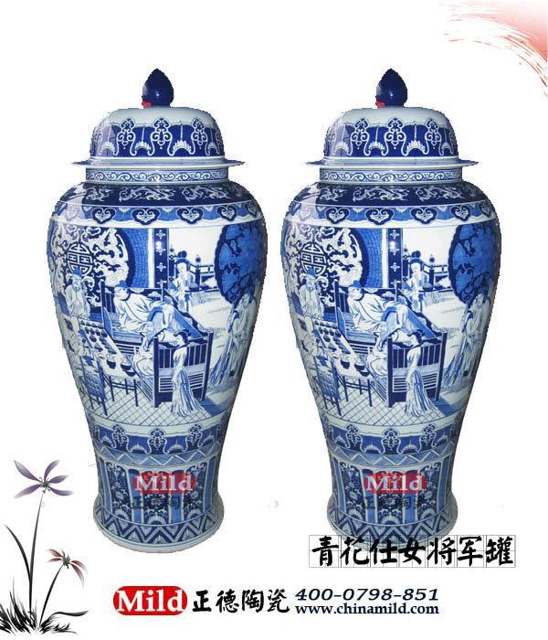 供应景德镇青花瓷系列大花瓶定做 手绘花瓶 陶瓷大花瓶厂家 落地大花瓶
