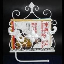 供应欧式铁艺纸巾架 浴室杂志架 壁挂毛巾架 卫生间纸巾架 手纸架