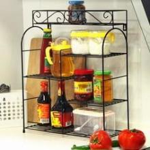供应欧式铁艺厨房架 厨房置物架 厨房角架 调味架批发厂家