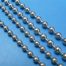 东莞方纳饰品厂供应6mm不锈钢波珠链圆珠链,波仔链低价现货供应图片