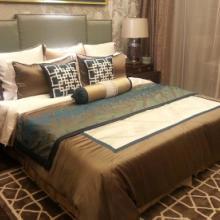 样板房床品/新古典床品/多件套床品/仿丝咖啡色床品11件套