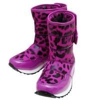 供应摩登小姐豹纹流行风尚雪地靴