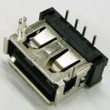 供应 USB 短体 A母90度 10.6DIP 两脚鱼 叉有卷边