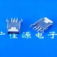 供应迷你usb母座Mini USB 5P立式180度弯脚