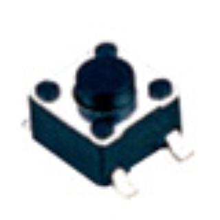 TVCM01 四脚贴片 SMT 4.54.5轻触开关 过回流焊24