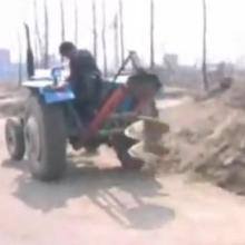 供应拖拉机挖坑机植树挖坑机