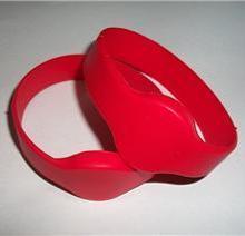 红色硅橡胶RFID手表型腕带IC手表卡ID腕带