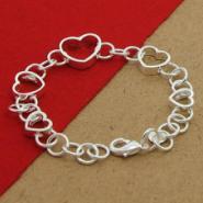镀925纯银手链串心手链图片
