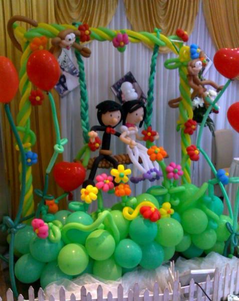 供应气球花朵造型装饰