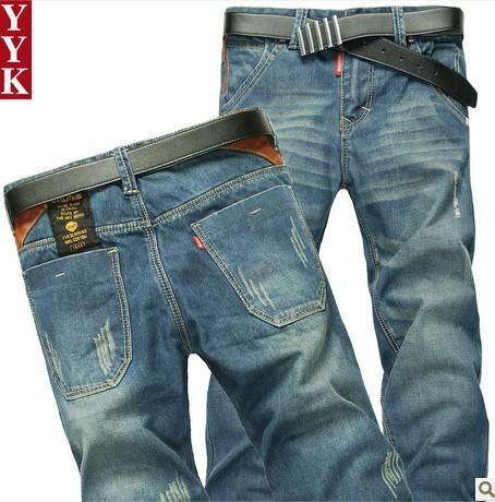 男式牛仔裤图片|男式牛仔裤样板图|2013新款潮流修身