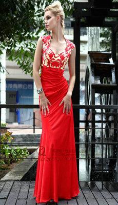 中西式婚纱礼服新娘礼服红色敬酒服图片大全图片