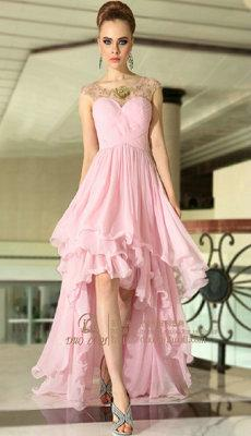 供应婚纱礼服前短后长晚礼服拖尾晚礼服