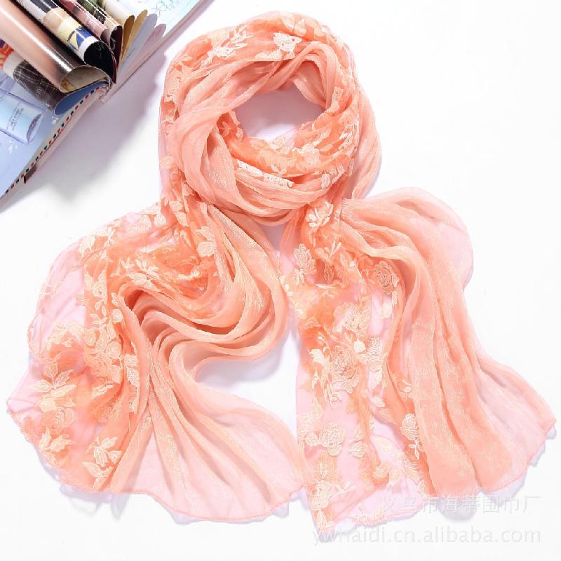 供应围巾蕾丝烧花围巾厂家直销生产经验8年多