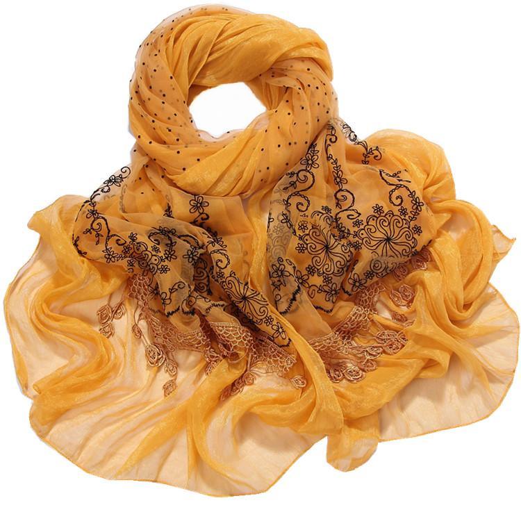供应植绒印花围巾