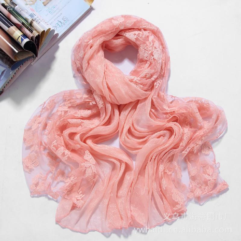 供应围巾蕾丝围巾烧花围巾烧花丝巾