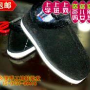 老棉鞋冬季办公休闲手工保暖棉拖鞋图片