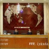 供应酒店大堂用品/酒店大堂背景墙装饰-新款世界地图钟