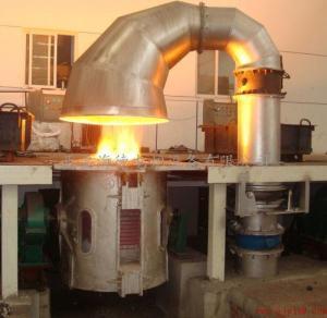 供应1吨快速熔炼炉、节能减排除尘中频炉