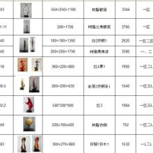 供应现货树脂雕塑铁艺摆件编号图片规格价格效果及存货数量齐备欢迎咨询图片
