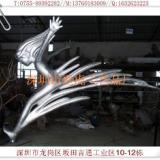 供应316不锈钢雕塑跳水的女孩复合材料鱼群供应酒店金属浮雕墙制作