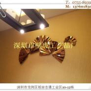 供应铁艺壁挂芭蕉叶飞舞的O不锈钢挂件酒店金属饰品新款欢迎选购